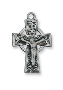 Antique Pewter Celtic Crucifix