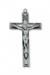 Antique Pewter Crucifix- Traditional