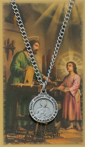 Saint Joseph the Worker Prayer Card and Medal Set