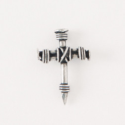 Wrapped Nail Cross Lapel Pin