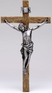 "8"" Antique Silver Crucifix"