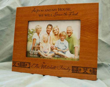 Personalized As for Me and My House Frame
