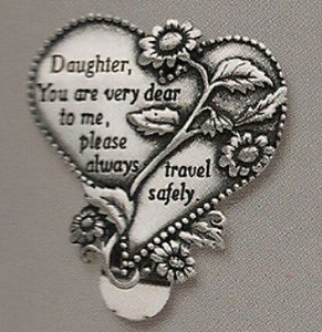 Daughter Heart Auto Visor Clip
