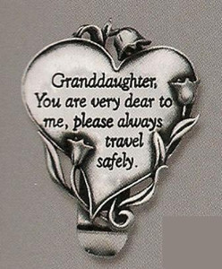 Granddaughter Heart Auto Visor Clip