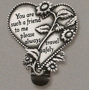 Such a Friend Heart Auto Visor Clip