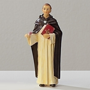 "3.5"" Saint Thomas Aquinas Statue and Prayer Card Set"