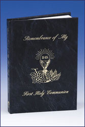 Black Hardcover First Communion Mass Book