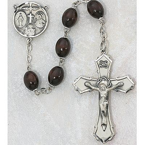 6x8mm Deluxe Brown Wood Rosary