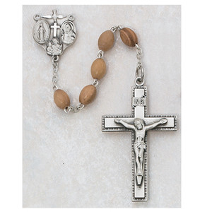 4x6mm Deluxe Olive Wood Rosary