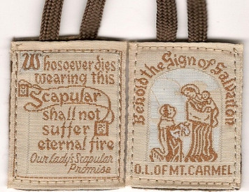 Pack of 5 Brown Scapulars