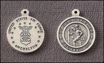 Pack of 5 Air Force Saint Christopher Medals