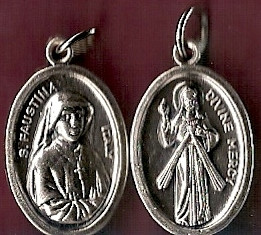 Divine Mercy/Saint Faustina Oxidized Medals Pack of 25