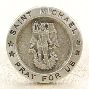 Pewter Saint Michael Lapel Pin