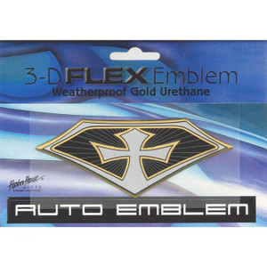 Large Gold 3-D Flex Emblem