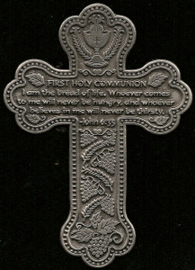 First Communion Message Cross