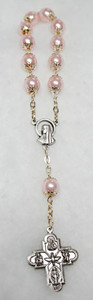 Pink Pearl One Decade Rosary