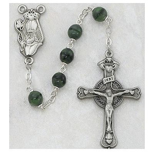 7mm Green Saint Patrick Rosary