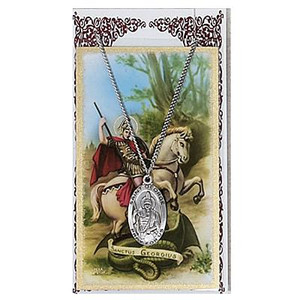 Saint George Prayer Card and Medal Set