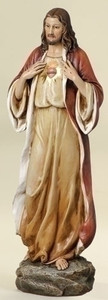 "14"" Sacred Heart Statue"