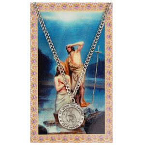Saint John the Baptist Prayer Card and Medal Set
