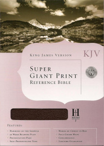 Super Giant Print KJV Referenc Bible with Black Bonded Leather