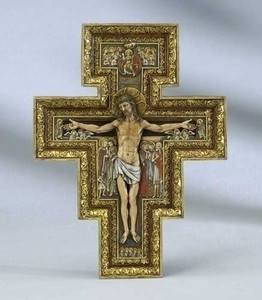 "Large 18"" San Damiano Wall Cross"
