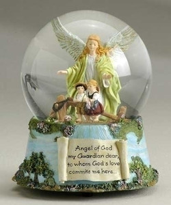 Guardian Angel - Musical Water Globe