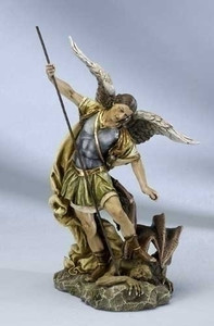 "12"" Saint Michael Statue - Renaissance Collection"