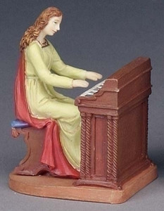 "3.5"" Saint Cecilia Statue and Prayer Card Set"