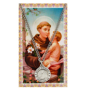 Saint Anthony Prayer Card and Medal Set