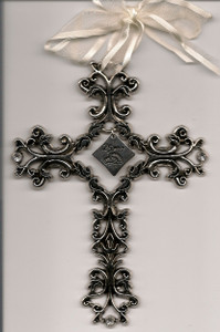 25th Anniversary Pewter Filigree Cross