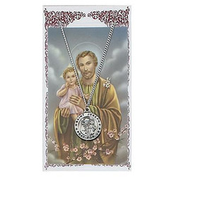 Saint Joseph Prayer and Medal Card Set