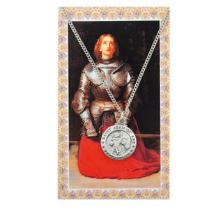 Saint Joan of Arc Prayer Card and Medal Set