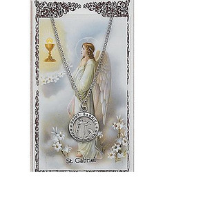 Saint Gabriel Prayer Card and Medal Set