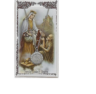 Saint Elizabeth of Hungary Prayer Card and Medal Set