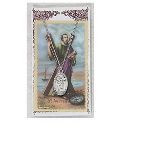 Saint Andrew Prayer Card and Medal Set
