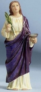 """3.5"""" Saint Lucy Statue and Prayer Card Set"""