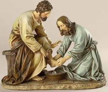 "6.5"" Jesus Washing the Feet Statue Renaissance Collection"