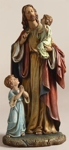Jesus with Children Statue 10""