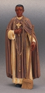"3.5"" Saint Martin de Porres Statue and Prayer Card Set"