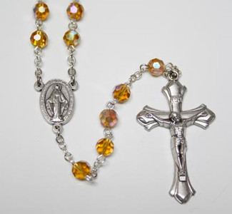 November Topaz Birthstone Rosary
