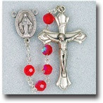July Ruby Birthstone Rosary