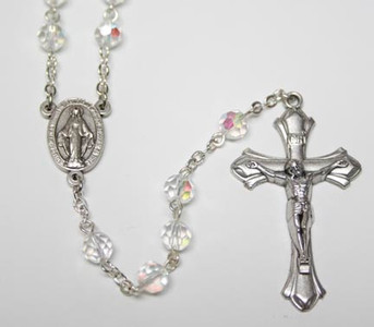 April Crystal Birthstone Rosary