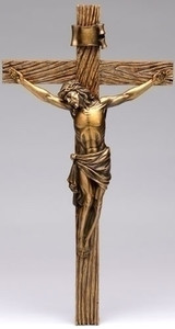 "13.25"" Antique Gold Crucifix"
