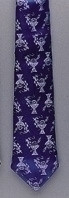 First Communion Tie - Navy Blue with Chalices