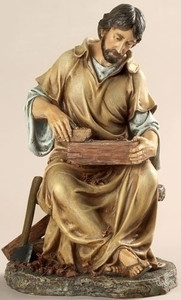 "10.25"" Jesus the Carpenter Statue Renaissance Collection"
