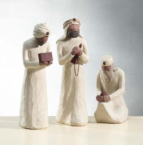 Three Wisemen Willow Tree® Nativity Figures
