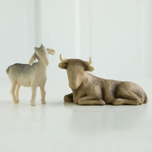 Ox and Goat Willow Tree® Nativity Figures