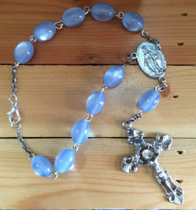 Light Blue One Decade Auto Rosary