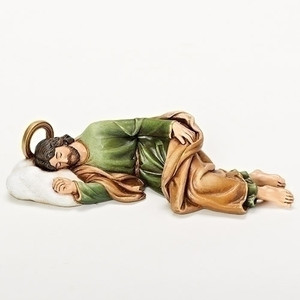 "8.25"" W Sleeping Saint Joseph Statue Renaissance Collection"